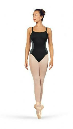 BLOCH Ladies Dance Scoop Neckline Camisole Open Back Leotard Naila L4917 Black